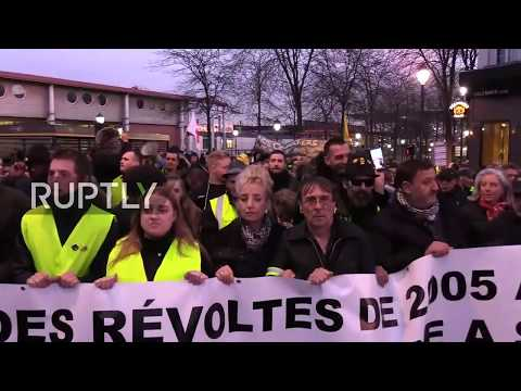 LIVE: French protesters march in solidarity with 'Yellow Vest' who lost his hand