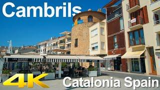 Tiny Tour | Cambrils Spain | Walk through pedestrian streets along the coastline 2019 Summer