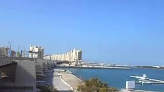 Walking on the bridge to the Palm Jumeirah   Dubai   United Arab Emirates   December 2013