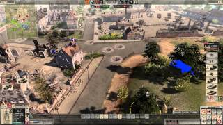 Men of War Assault Squad 2 Japan vs Germany 4v4 taking the map