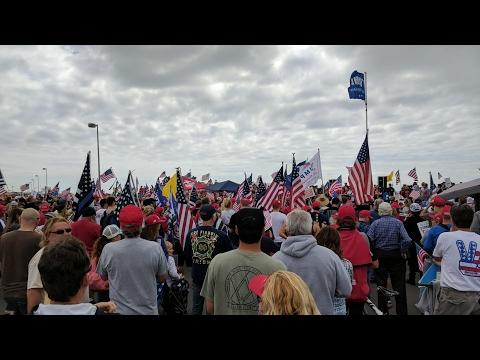 2,000 Trump Supporters On HB Boardwalk