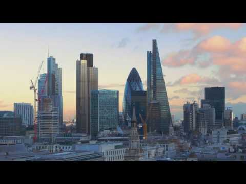The skyscrapers and office buildings in the City of London 000101323013 HD1080Video