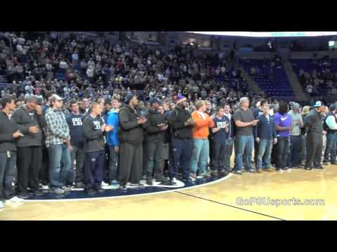 Penn State Football - Nittany Lions Recognized at Basketball Game