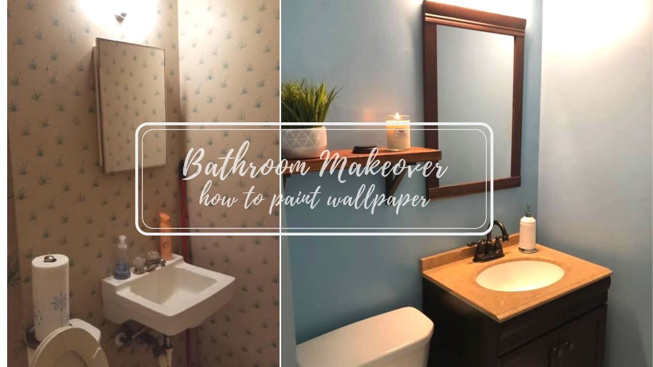 Bathroom Makeover | How To Paint Wallpaper