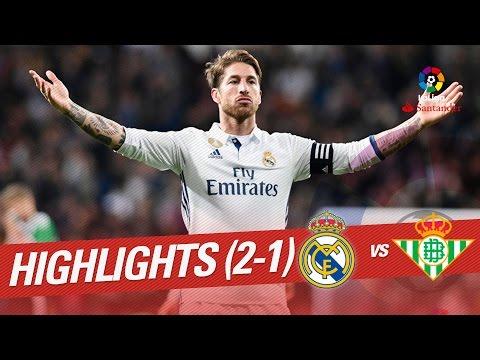 Resumen de Real Madrid vs Real Betis (2-1)