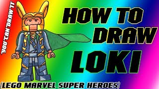 How To Draw Loki from Lego Marvel Super Heroes ✎ YouCanDrawIt ツ 1080p HD