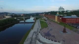 Набережная Днепра. Смоленск. Аэросъемка