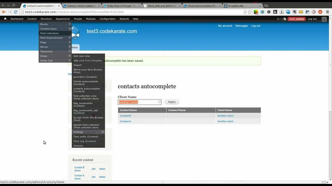 Drupal 7 Views Autocomplete Filter - Daily Dose of Drupal episode 116