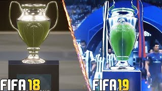 "FIFA 19 Vs FIFA 18 | UEFA Champions League  ""FINAL ENTRANCE"" | Comparison"
