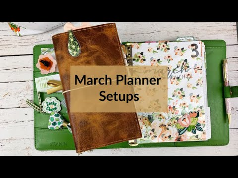 March Planner Setups Featuring Cocoa Daisy Orchard Path Collection #cocoadaisy #StandardTN #a5setup