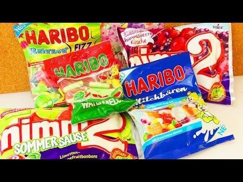 SOMMER Snacktest ☀️ HARIBO & NIMM2   Milchbären, Wassermelone & Regenbogen Sommersorten