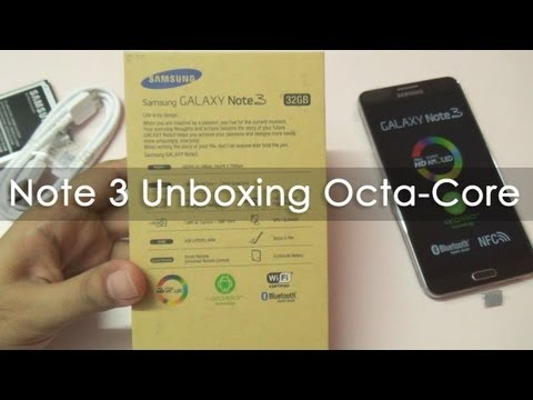 Samsung Galaxy Note 3 Unboxing & First Boot Octa Core N900