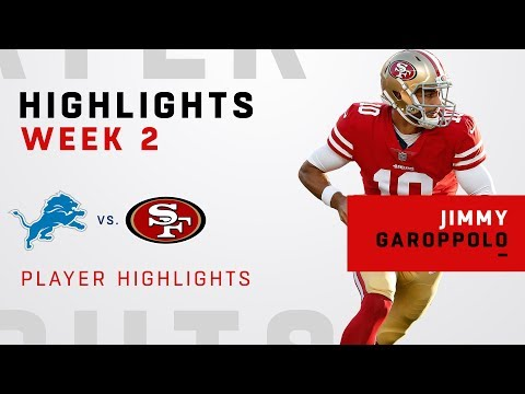 Jimmy Garoppolo Highlights in Win Over Detroit!