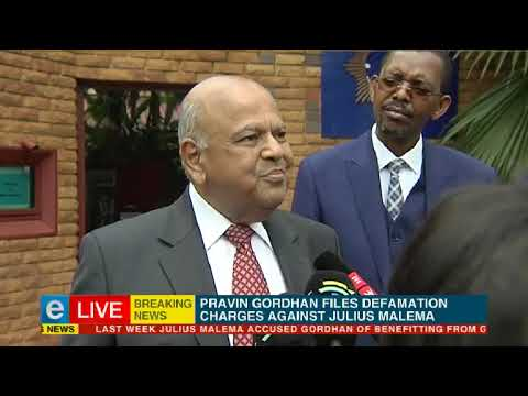 Gordhan files defamation charges against Malema
