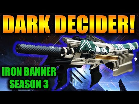 Destiny 2 | Dark Decider Auto Rifle PvP Gameplay Review | Iron Banner Season 3