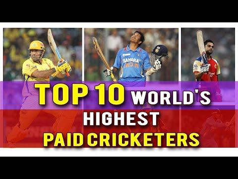 Top10 Highest Paid Cricketers  | Highest Paid Cricketers (2016)