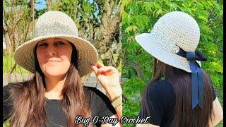 Easy Crochet Sun Hat | Quick and Easy Sun Hat | Bag O Day Crochet Tutorial