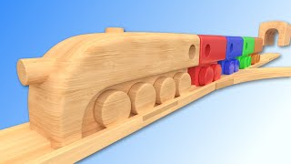 Learn Colors with Wooden Train City Toy Nursery Rhymes for Kids Children Toddlers