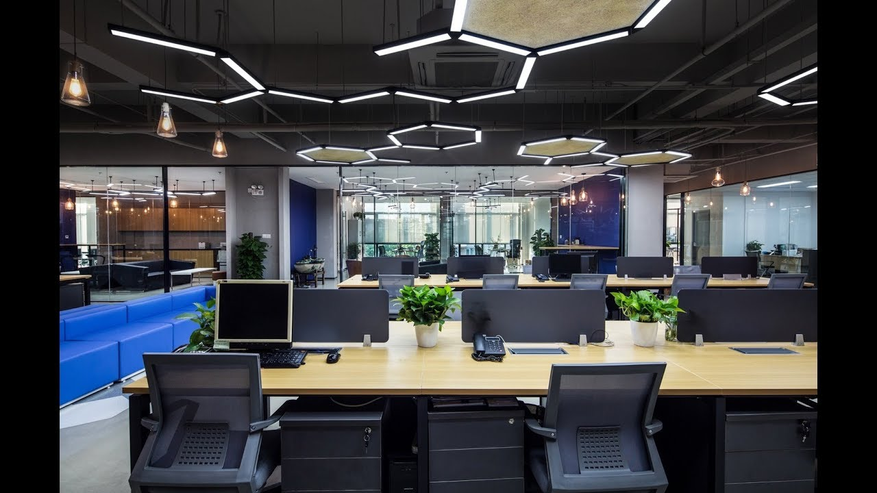 Interior Design The Design Walk Commercial Complex Design Office Space The Hexagon Office Youtube