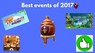 Best events of 2017 [Roblox]