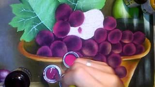 Pintura em tecido – Uvas e luz seca