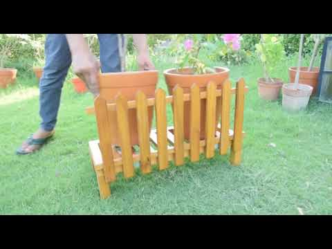 JungleMonk Product (Wooden Plant Stand)