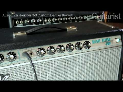 Fender '68 Custom Deluxe Reverb vs '65 Deluxe Reverb reissue (amp review demo)