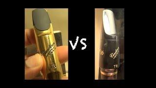 """Metal Vandoren T6 vs Ebonite """"Hard Rubber"""" T6 Vandoren"""