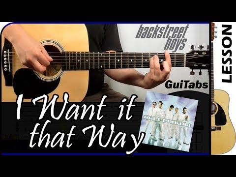 How to play I Want It That Way 💘🔥 - Backstreet Boys / Guitar Tutorial 🎸