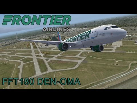 Prepar3d v3.4 Frontier Airlines 180 Denver - Omaha