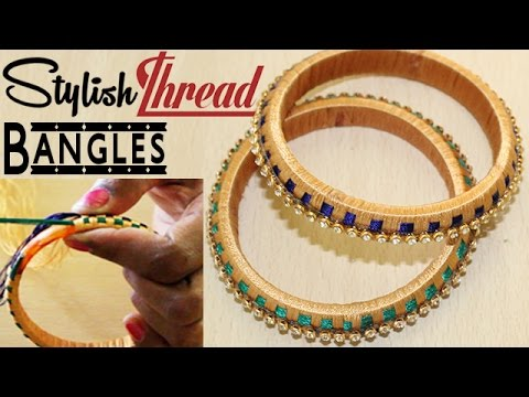 How to make Silk Thread Bangle Making at Home || Step by Step Tutorial