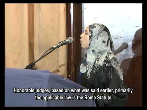 The International Criminal Law Moot Court project -- Gaza -- Palestine