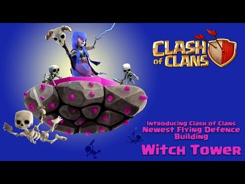 New Flying Defense! Town Hall 13 Flying Defense Concept! The Witch Tower
