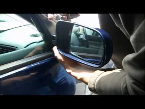 how to fix a cracked car mirror