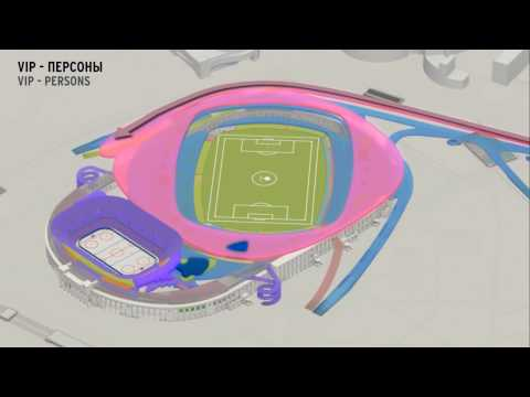 Erick van Egeraats winning design for VTB Arena Park (Dynamo Moscow Stadium)