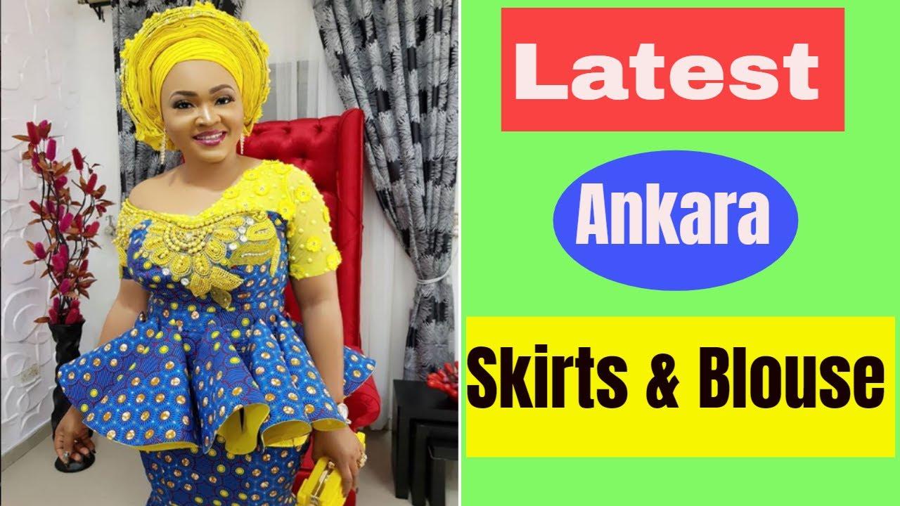 1726ca90da4b47 Latest Ankara Skirt And Blouse Styles 2018 In Nigeria - YouTube
