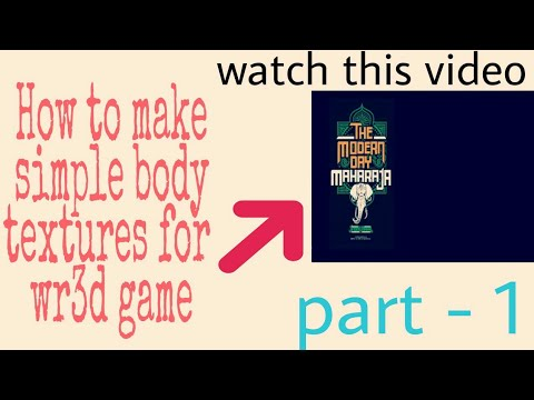 How to make simple body textures for wr3d/wrestling revolution 3d part- 1