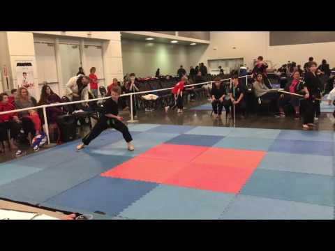Zach Thomas - TEAM AKA - Musical Weapons Form Compete Nationals 2017 - Airstrike Martial Arts