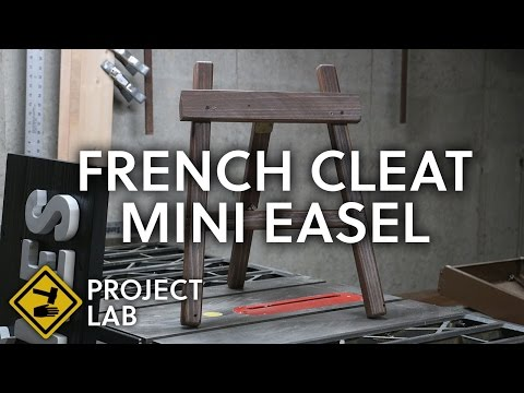 DIY French cleat mini easel
