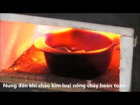 [Nồi sứ] Thử nghiệm nung chảo kim loại nóng chảy