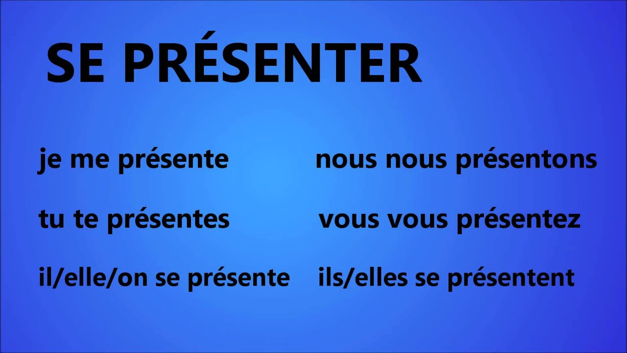 French With Adel Verbe Se Presenter Youtube