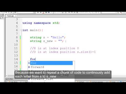 Reversing Strings Algorithm in C++ (Detailed Explanation) - Method 1 NO AUDIO