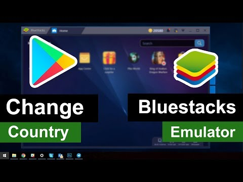 Change Google Play Store Country 2018 in Bluestacks Emulator - Change App Store Country !! NO ROOT!!