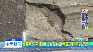 20191225中天新聞 鐵人賽「路面坑洞」害摔癱 基市府判賠967萬