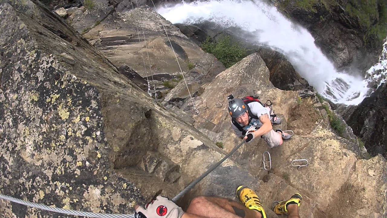 Klettersteig Austria : Gopro klettersteig via ferrata at lehner wasserfall and