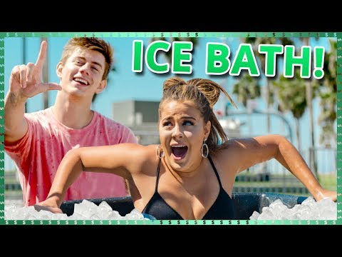Ice Bath Challenge!  Do It For The Dough w/ Tessa Brooks and Chance Sutton