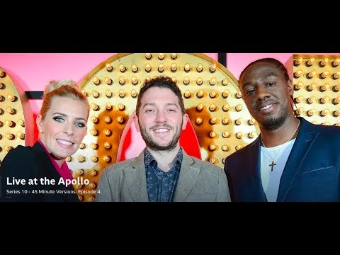Live at the Apollo: Jon Richardson, Sara Pascoe, Nathan Caton. 45 mins. Mar 2016. S10 E4.