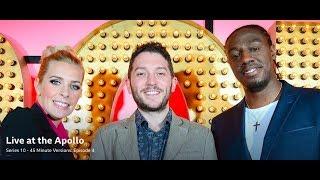 Live at the Apollo: Jon Richardson, Sara Pascoe, Nathan Caton. 45 mins. Mar 2016. S10 E4.