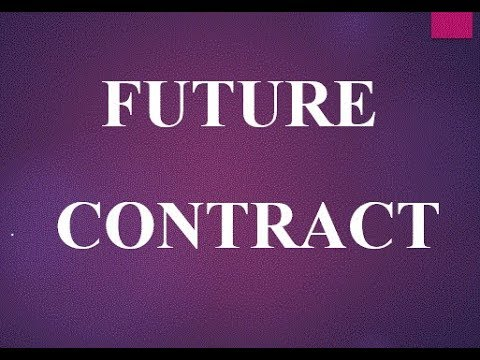 future contract definition and example