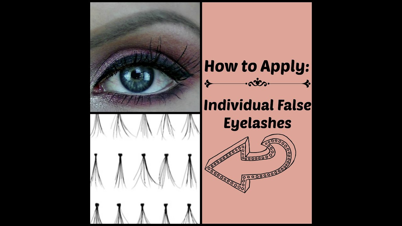 How to Apply Individual False Eyelashes (easy and quick ...